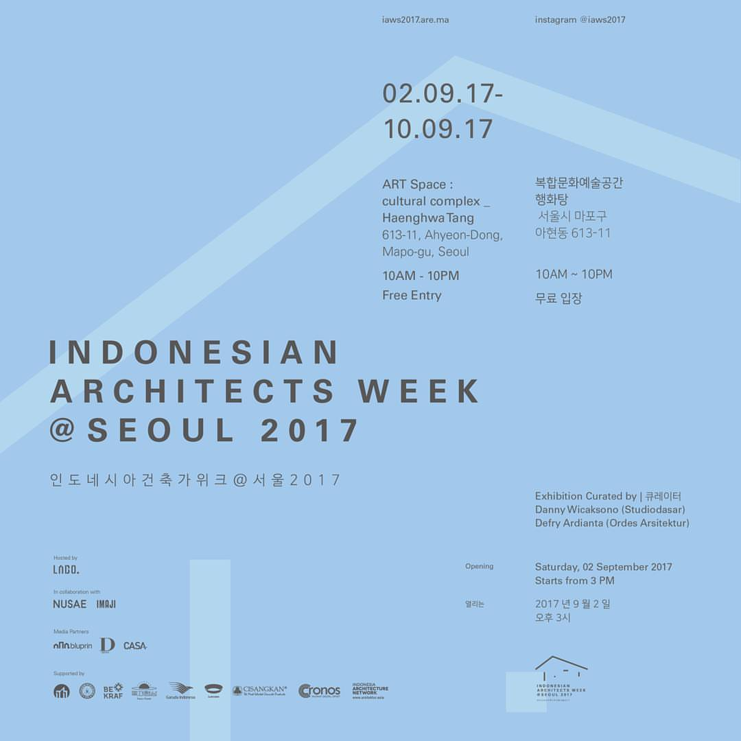 Indonesian Architect Week Seoul 2017